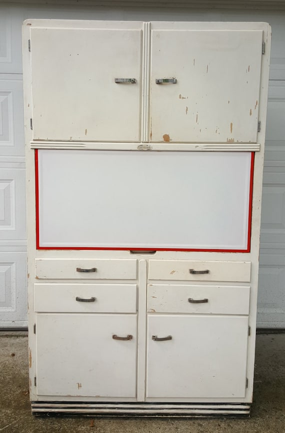 Antique Original 1934 Sellers No 866 Kitchen Hoosier Cabinet