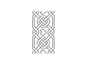 Machine Embroidery Design Instant Download - Blackwork Trim Fretted Hearts 1
