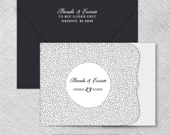 Confetti All Inclusive Wedding Invitation Sample