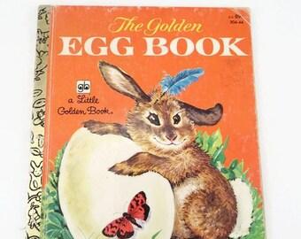 Vintage Little Golden Book The Golden Egg Book 1985 Hardcover Old Little Golden Book 1955 Childs Easter Book