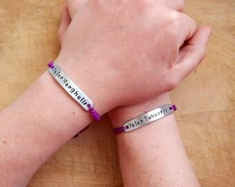 Valar Morghulis and Valar Dohaeris bracelet - Game of Thrones Quote bracelets - Economy Set of Two bracelets