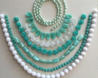 Sale- Destash- Beads- Robins Egg Blue- 017