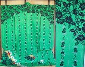 Japanese Silk Furisode gr...