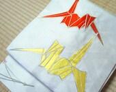 Origami crane Nagoya obi,...