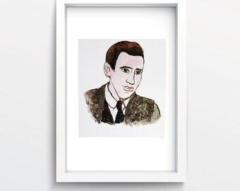 J. D. Salinger's portrait print