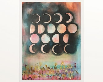 "Archival Print, ""Planting by the moon"""