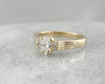 Diamond Dew Drop Engagement Ring T51Z54-P
