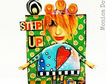 Step Up and Fly Art Block