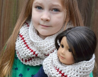 Child and Dolly Matching Convertible Cowl Set