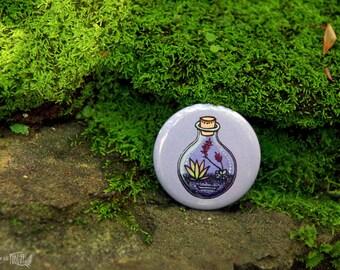 Lilac Succulent Terrarium Button (Pin Back)