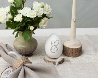 Rustic Easter table place card,  Personalized Easter Egg Place Card,  Easter place card- Easter Place Setting- Easter Table Decor