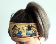 Fitness Headband - Yoga Headband - Workout Headband - Running Headband - Boho Headband - Elastic Headband - Egyptian Headband Y4