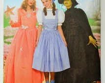 Dorthy Costume,Glenda,Wicked Witch,Wizard of Oz Costume, Simplicity Sewing Pattern 4136 in Size 6-12, Halloween Costume,Costume Patterns