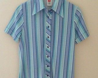 Vintage 1970's Blue Striped Shirt