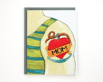 Mom Tattoo - funny Mother's Day greeting card / MOM-TATTOO