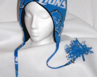 Detroit Lions Polar Fleece Bomber Hat
