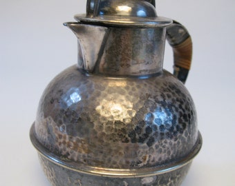 Vintage Stippled Nickel Silver Tea pot  by Apollo Sheffield & Bernard rice And Sons, Inc 1920's