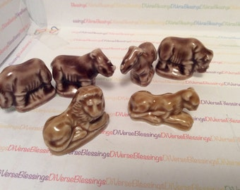 WADE, Noahs Ark, Matched Pairs, Lions, Rhinos, Red Rose Tea, Porcelain Figurine, Wade, Made In England