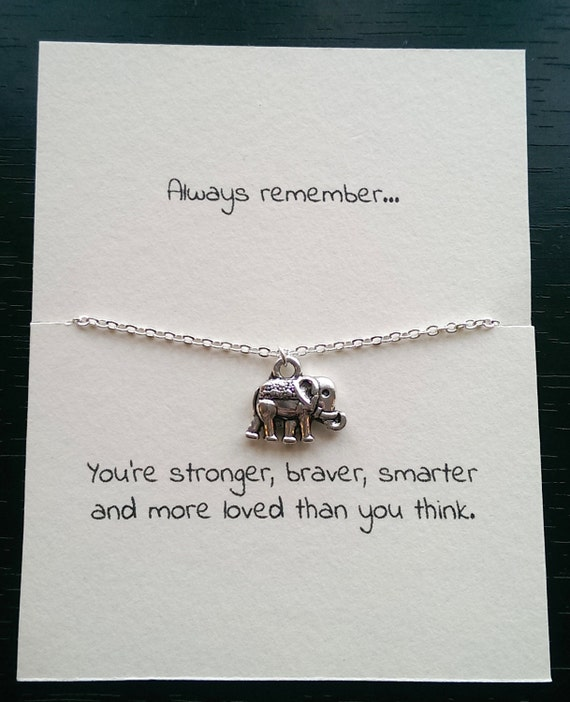 Best Friend Quotes For A Card : Silver elephant necklace best friend by gallaghersboutique