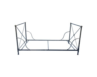 1980's Distressed Iron Daybed