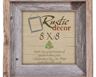 "8x8-2"" wide Rustic Barn Wood Signature Wall Frame"