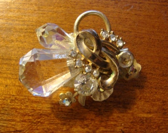 Upcycled, Recycled Brooch from reclaimed jewelery parts