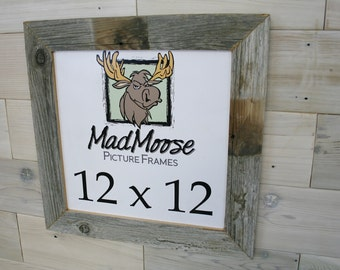 12x12 barnwood thin x 2 picture frame