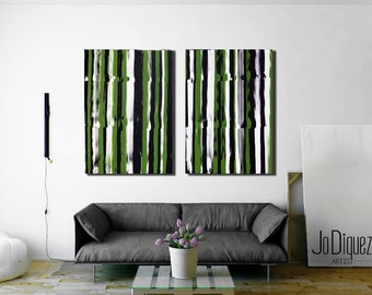 "Original abstract painting. 50w x36h"" Olive green painting. Large canvas art. Modern wall art."