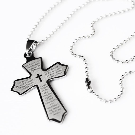 Lords Prayer Our Father Prayer Unique Cross Christian