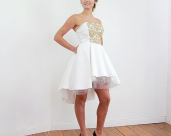 White dress for evening wear