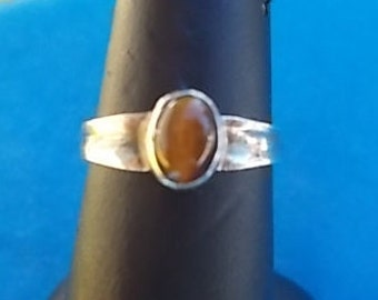 Vintage~~Tigers Eye~Sterling Silver~Ring~size~6 1/2~new old stock~Teen girl~Womans~Nice Stone~925~Fine Sterling Silver~Jewelry