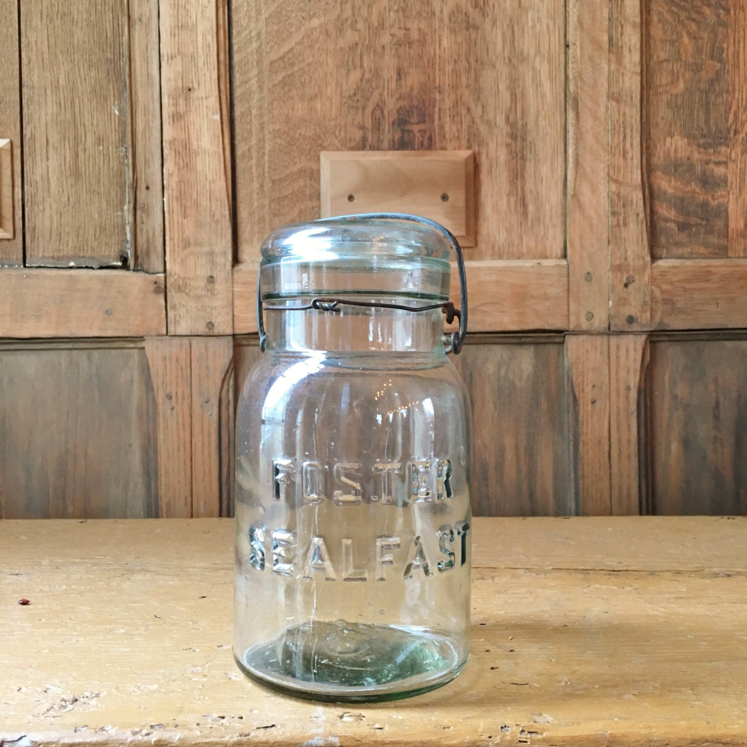 vintage mason jar foster sealfast glass jar vintage kitchen vintage mason jar foster sealfast glass jar vintage kitchen storage kitchen canister green glass mason jar decor