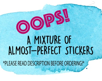 OOPS Mystery Grab Bag Planner Stickers / Erin Condren Grab Bag Stickers / Planner Stickers Misfit Grab Bag / Planner Stickers Oops
