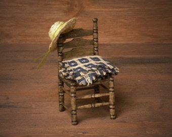 Miniature Wooden Chair for Your Dollhouse