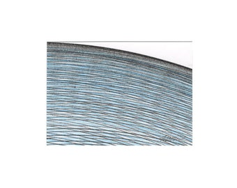 Blue Artist Trading Card, Blue Original ACEO, Blue Miniature Art, Collectible Card, Blue ACEO Art, ACEO Fine Art Tiny Art Mini Art 3.5 x 2.5