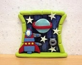 Boys Clay Space Door, Alien Door, Outerspace Decoration, Fairy Decoration
