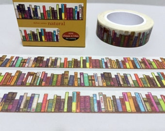 bookshelf washi tape 10M colorful book encyclopedia book case library masking tape sticker study planner sticker tape student label gift