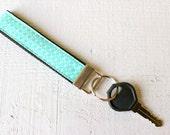 Key Fob Wristlet in Aqua ...