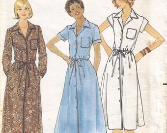 1970s Misses Dress Pattern, Butterick 5924, Size 10