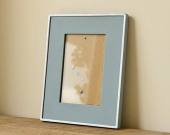 Coastal Blue Hand Painted Photo Frame with Silver Accents 6x4