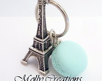 Eiffel Tower keyrings and polymer clay Macaron