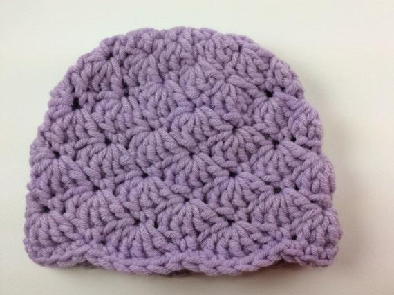 Crochet Hat Preemie Purple Nicu Hospital By
