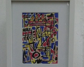 ORIGINAL ABSTRACT EXPRESSIONISM Signed Painting
