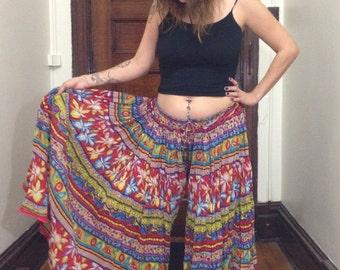Handmade Colorful Wide Leg Pants