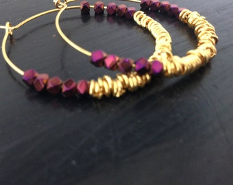 large hoops gold 24 carat gold