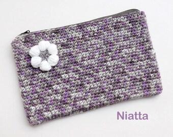 Zipper Pouch 2 Styles Coin Purse Cell Phone Case Mobile Case Beauty Case Change Purse Crochet Niatta
