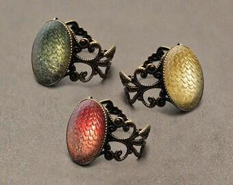 Game of Thrones dragon egg ring – Khaleesi Mother of Dragons – Viserion –Rhaegal – Drogon – Daenerys Targaryen cosplay jewelry / jewellery