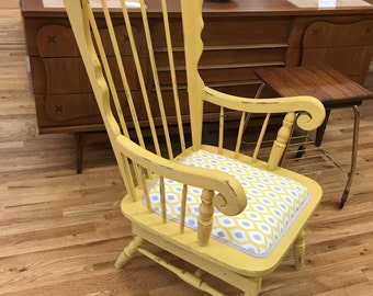 vintage rocking chair wood rocking chairshabby chic distressed rocking chair - Nursing Chair