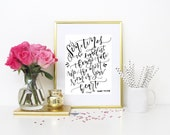 SALE - Gold foil print / Winnie the Pooh Quote / Nursery Print / Nursery Art/ Baby Wall Art / Baby Quote / Baby Gift / Baby Shower