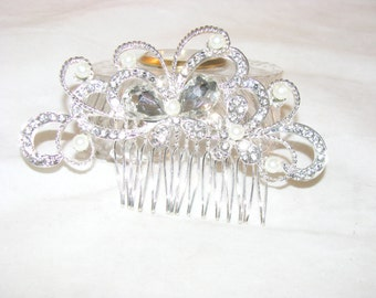 Vintage Inspired Bridal Hair Comb-Floral Wedding Hair Accessory